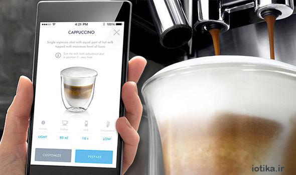 مدیریت قهوه ساز هوشمند با تلفن هوشمند