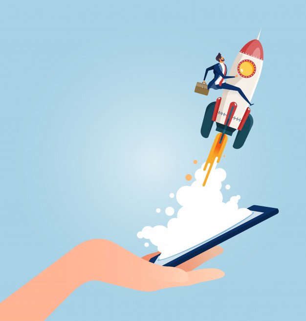 businessman-riding-rocket-launching-from-smart-phones_70921-315