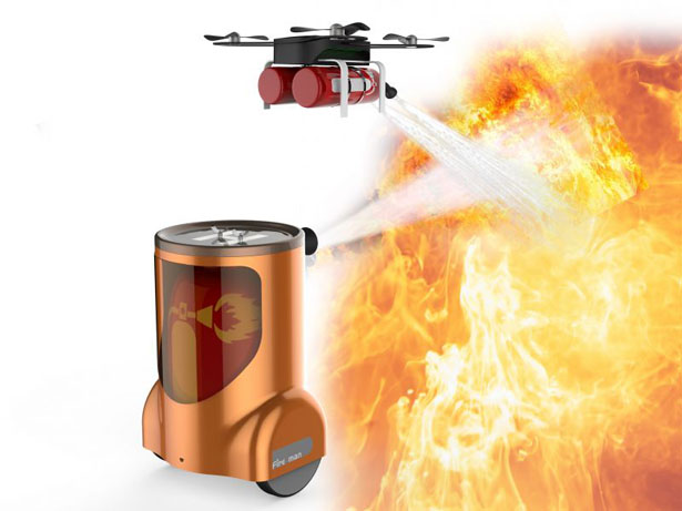 پهباد در آتش نشانی هوشمند