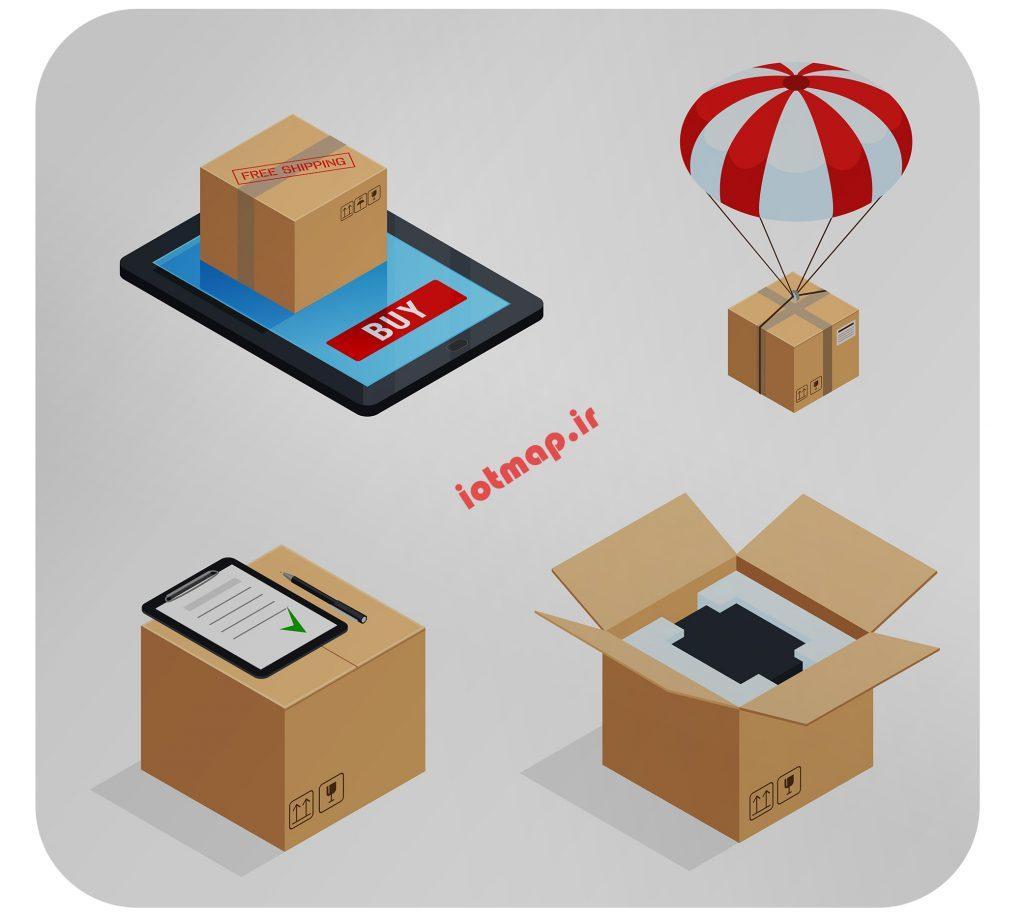 ارسال کالا با اینترنت اشیا