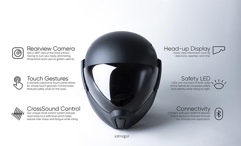 کلاه ایمنی هوشمند مخصوص موتور سواران